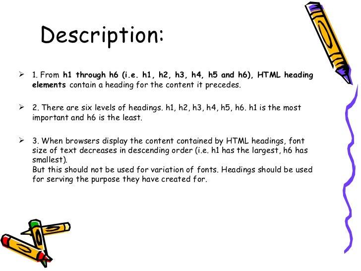 Html heading Slide 3