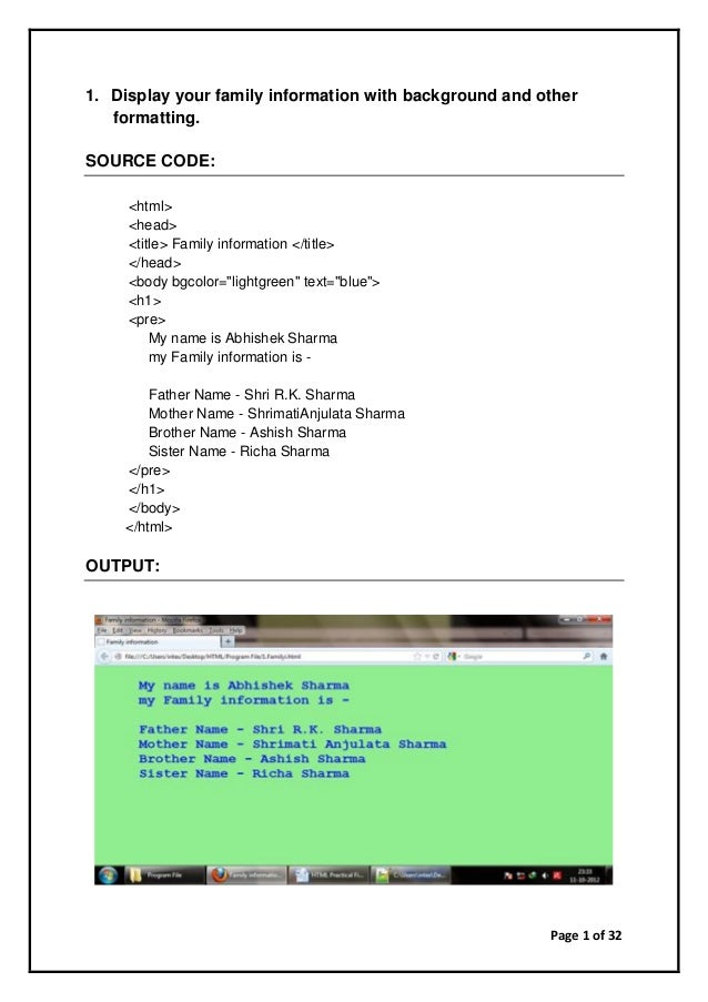 Html Codes In Pdf