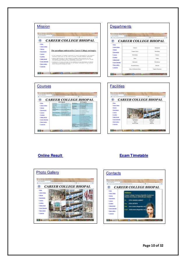 Page 10 of 32 Online Result Exam Timetable Mission Departments Courses Facilities Photo Gallery Contacts