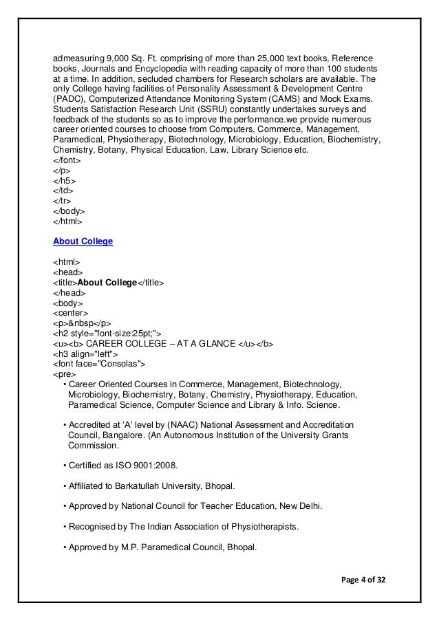 Page 4 of 32 admeasuring 9,000 Sq. Ft. comprising of more than 25,000 text books, Reference books, Journals and Encycloped...