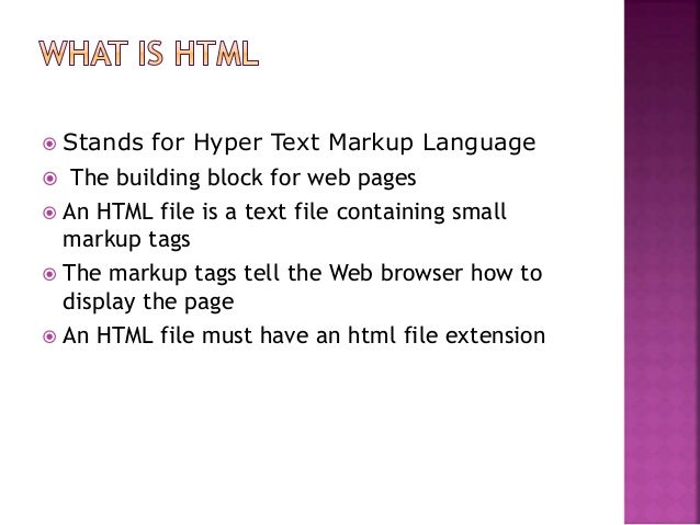 markup tags tell the web browser