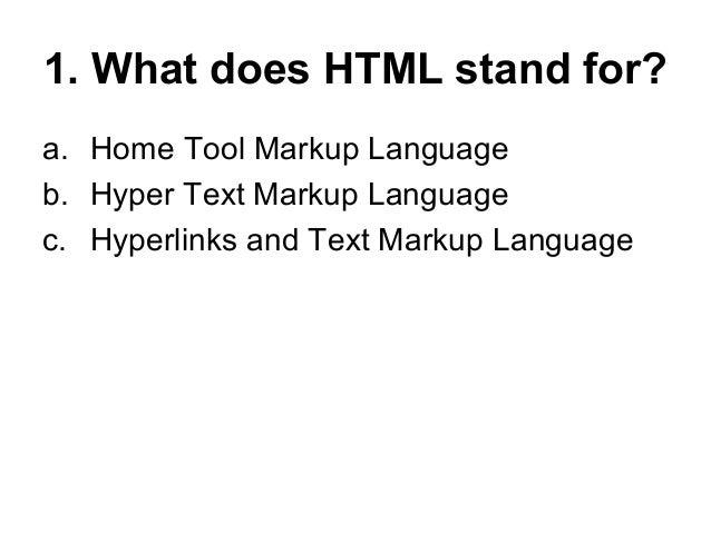 Html quiz