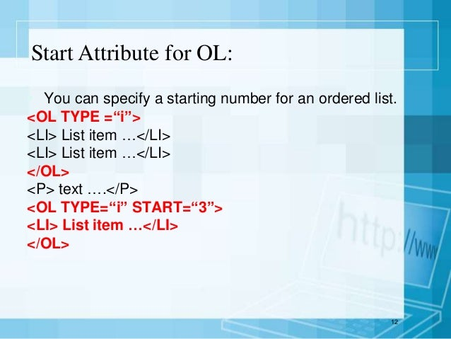basic html tags list pdf