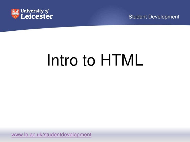 Intro to HTML<br />