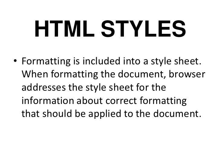 HTML STYLES Slide 2
