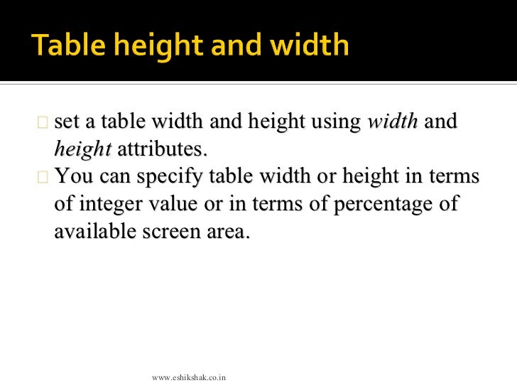 Html Table Tags  sc 1 st  Best Image Engine & Glamorous How To Set Table Width In Html Photos - Best Image Engine ...