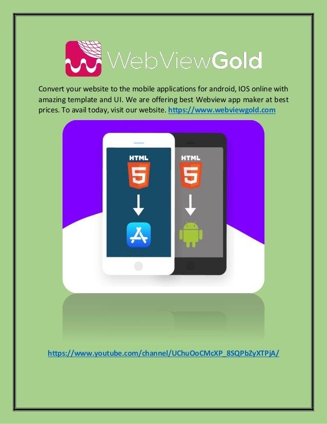 Html To Ios App Converter Webviewgold Com