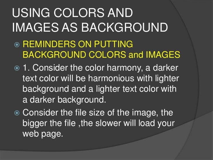 Html Web Designing Background And Rules