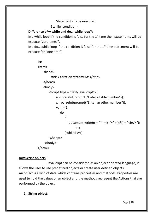 Html, xml and java script