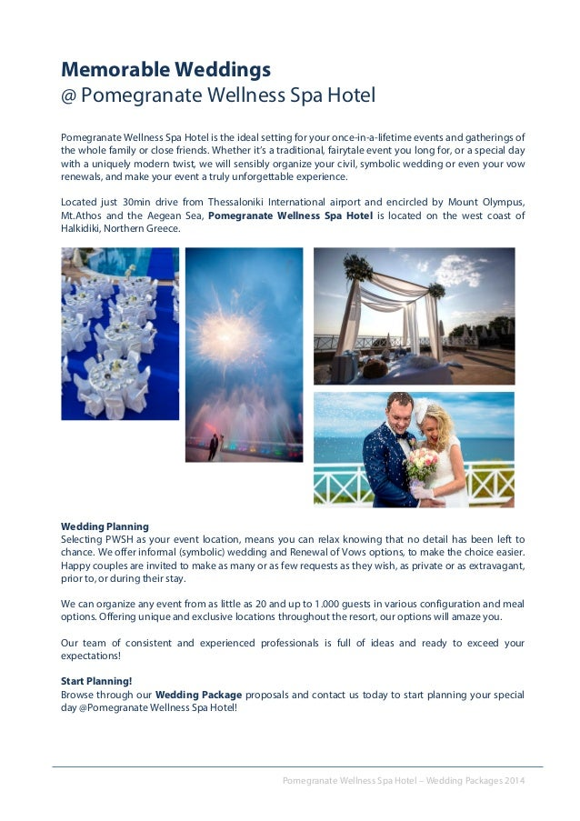 Wedding Packages Pomegranate Wellness Spa Hotel 2