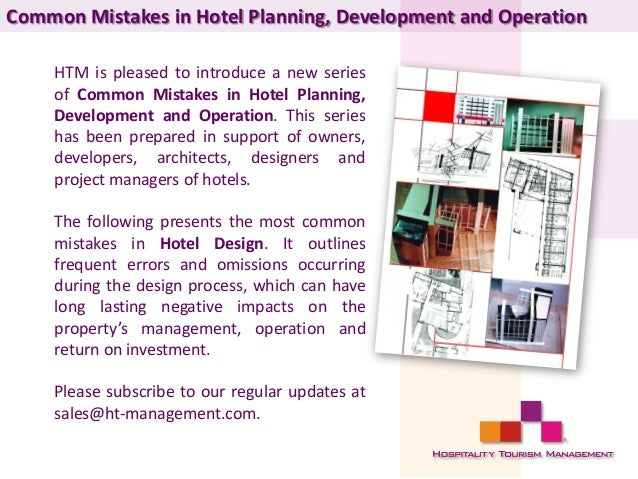 Hotel Planning Services