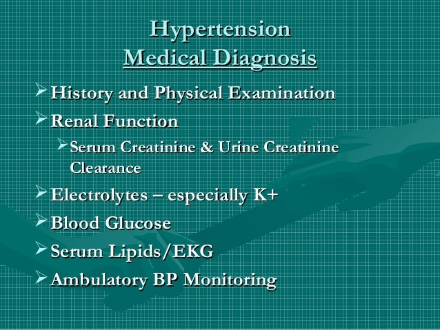 Hypertension, types, causes