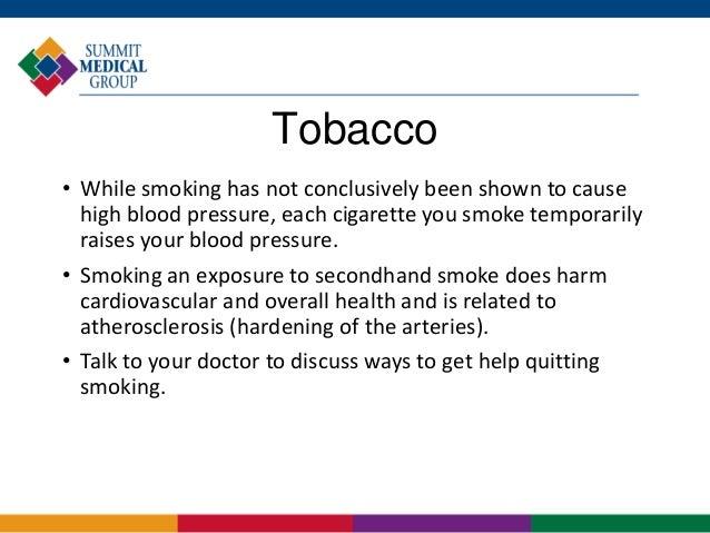 Smoking Causes Rise In Blood Pressure