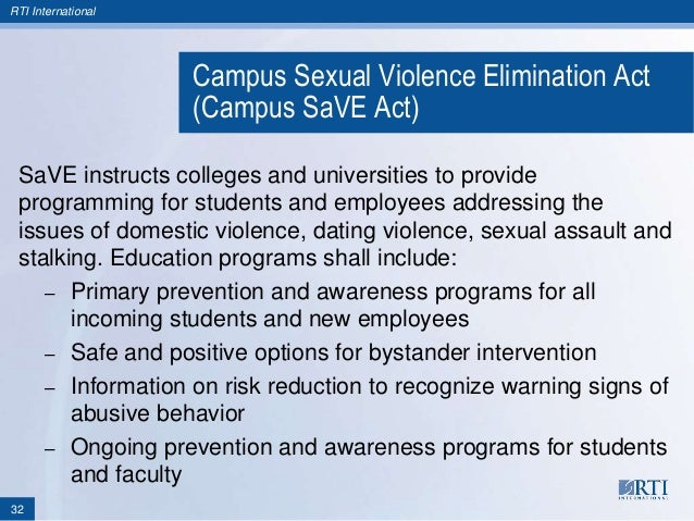 Campus sexual violence elimination act images 49