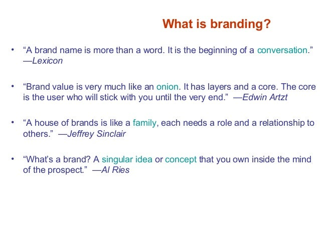 Best Practices What is a Brand? Not your logo. Not your slogan. Not your tagline. Not your image. Not owned by you.