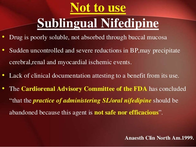 Nifedipine Dose For Kidney Stones