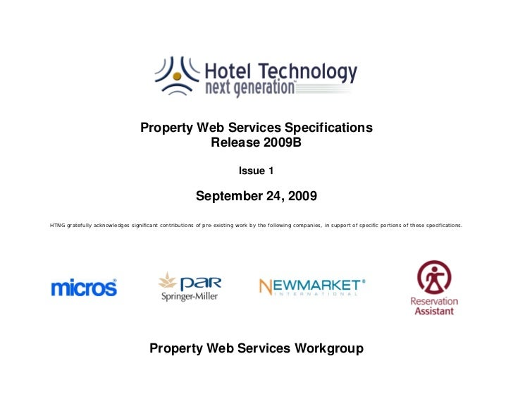 Property Web Services Specifications                                            Release 2009B                             ...