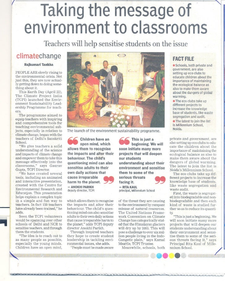 I                 Taking message f                      the        o               environment classrooms                 ...