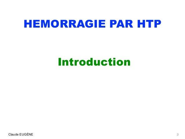 HEMORRAGIES PAR HYPERTENSION PORTALE AU COURS DE LA CIRRHOSE Slide 3