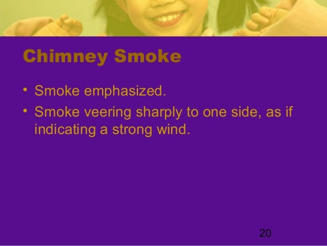 20Chimney Smoke• Smoke emphasized.• Smoke veering sharply to one side, as ifindicating a strong wind.