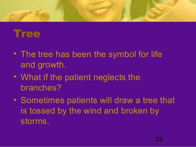 29Tree• The tree has been the symbol for lifeand growth.• What if the patient neglects thebranches?• Sometimes patients wi...