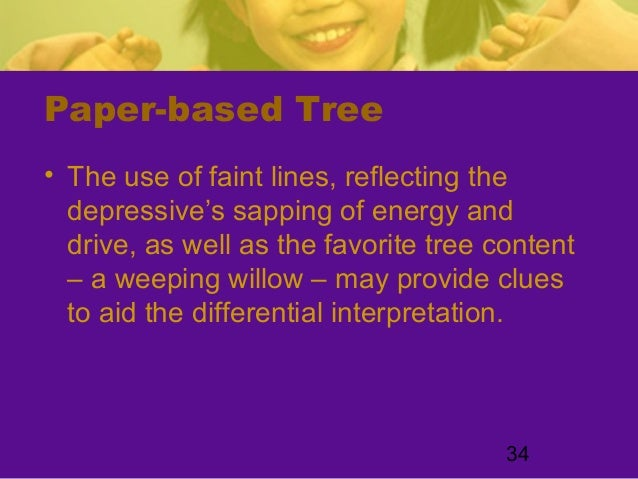 34Paper-based Tree• The use of faint lines, reflecting thedepressive's sapping of energy anddrive, as well as the favorite...