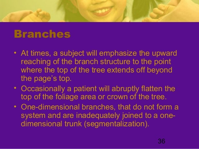 36Branches• At times, a subject will emphasize the upwardreaching of the branch structure to the pointwhere the top of the...