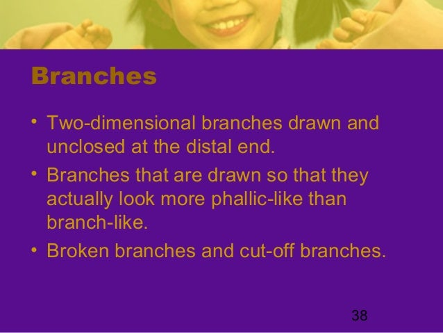 38Branches• Two-dimensional branches drawn andunclosed at the distal end.• Branches that are drawn so that theyactually lo...
