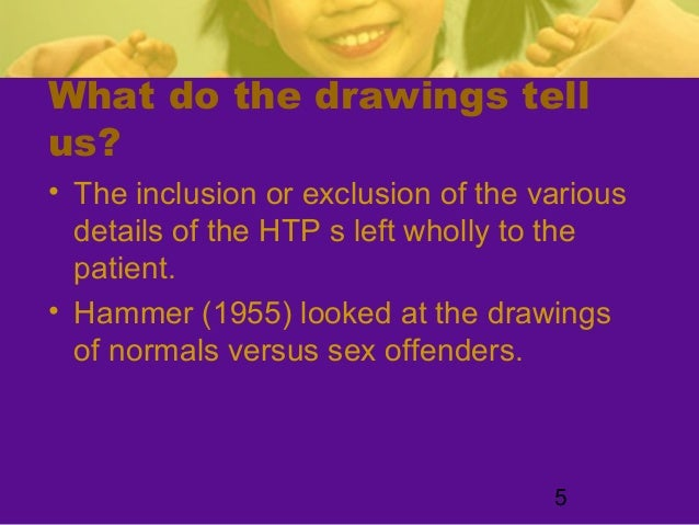 5What do the drawings tellus?• The inclusion or exclusion of the variousdetails of the HTP s left wholly to thepatient.• H...
