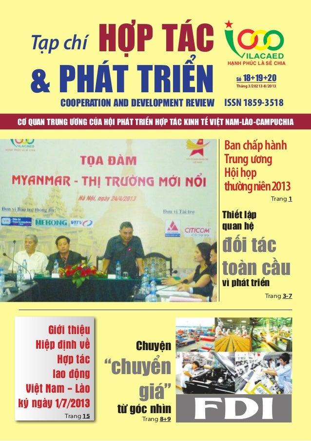 HỢP TÁC & PHÁT TRIỂN  Tạp chí  COOPERATION AND DEVELOPMENT REVIEW  ILACAED  HAÏNH PHUÙC LAØ SEÛ CHIA Số  18+19+20  Tháng 3...