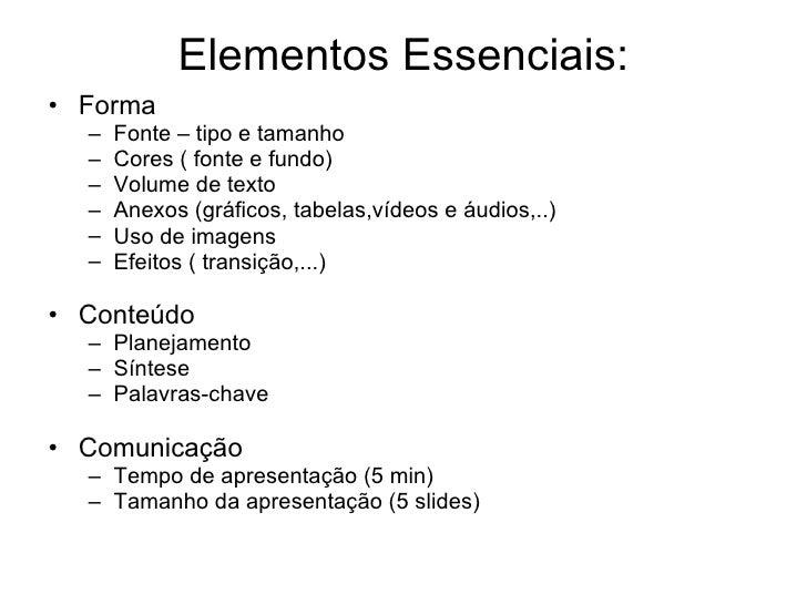 Como elaborar uma boa apresentação Slide 2