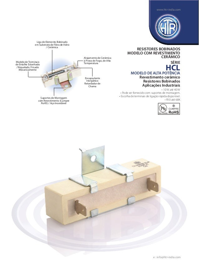 Liga de Elemento Bobinado em Substrato de Fibra de Vidro / Cerâmica Alojamento de Cerâmica à Prova de Fogo, de Alta Temper...