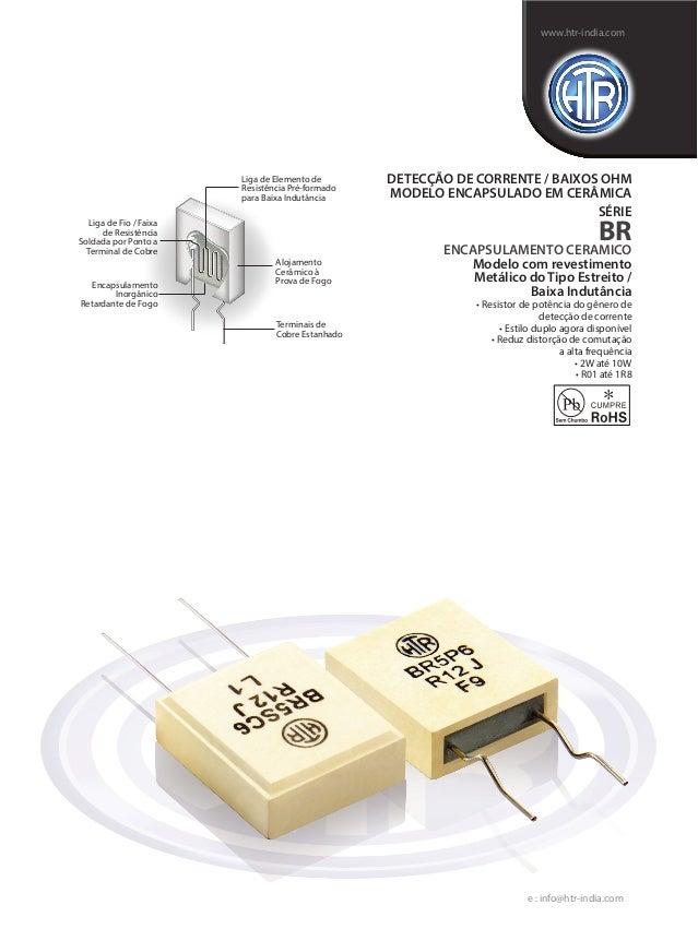 Liga de Elemento de Resistência Pré-formado para Baixa Indutância Encapsulamento Inorgânico Retardante de Fogo Alojamento ...