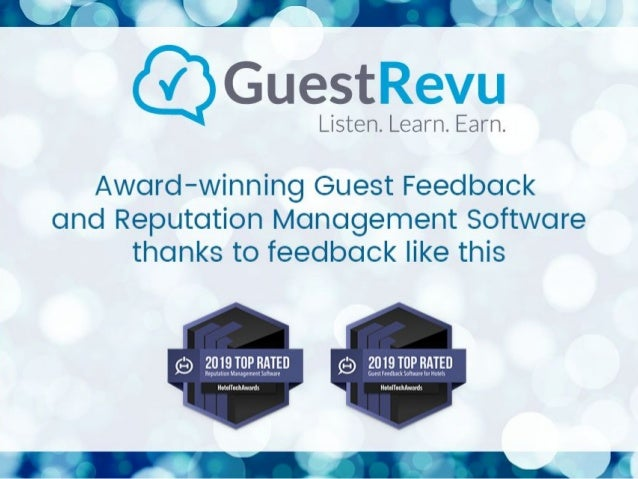 Hotel Tech Report Reviews From Our Clients - GuestRevu