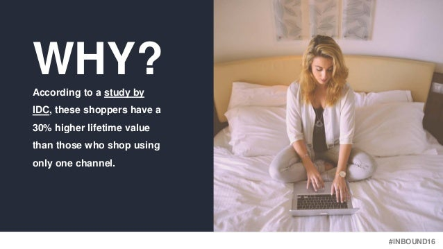 #INBOUND16 WHY?According to a study by IDC, these shoppers have a 30% higher lifetime value than those who shop using only...