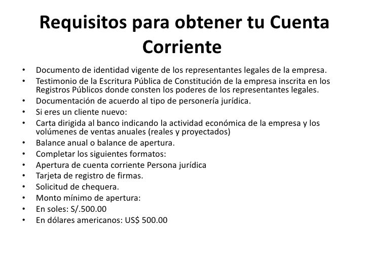 Cuenta corriente for Solicitud de chequera