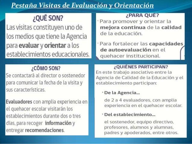 Pestaña Visitas de Evaluación y Orientación