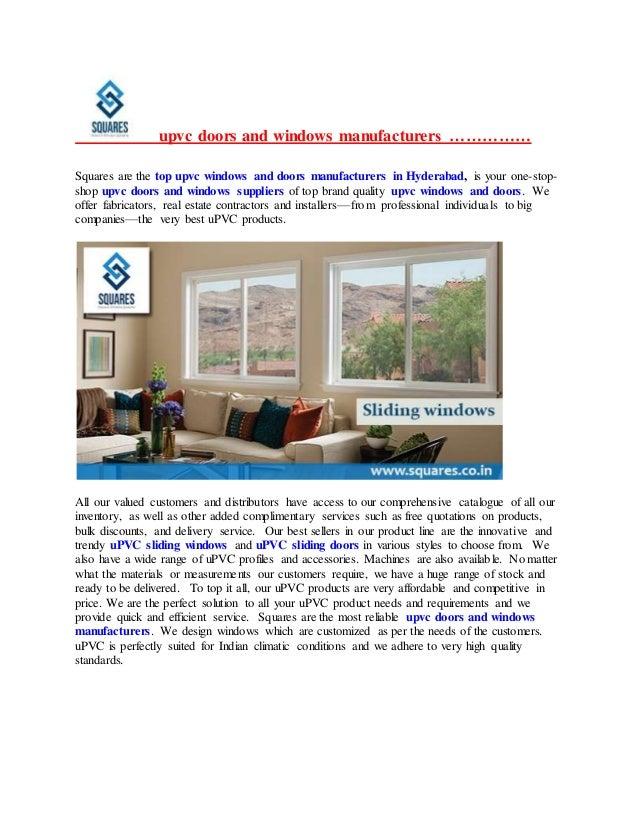 Upvc Doors Suppliers In Hyderabad Top Upvc Windows