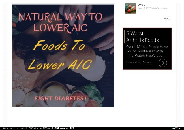 http:// Lower A1C levels Naturally!