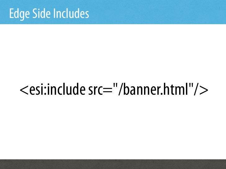 "Edge Side Includes  <esi:include src=""/banner.html""/>"