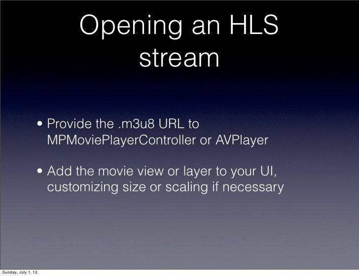 Mobile Movies with HTTP LIve Streaming (CocoaConf DC, Jun '12)