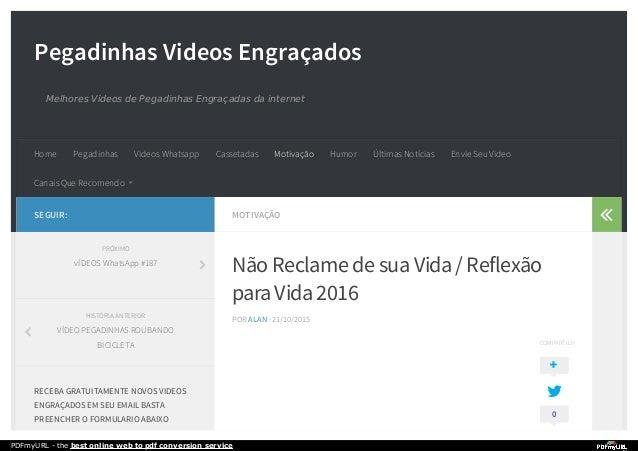 Pegadinhas Videos Engraçados Melhores Videos de Pegadinhas Engraçadas da internet MOTIVAÇÃO Não Reclame de suaVida/ Reflex...