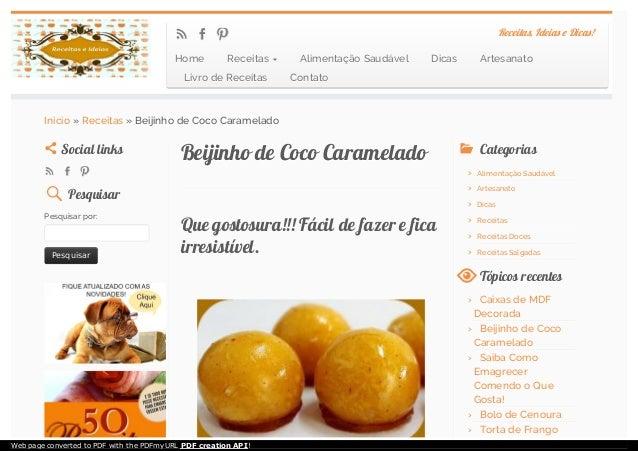 Beijinho de Coco CarameladoBeijinho de Coco Caramelado Que gostosura!!! Fácil de fazer e ficaQue gostosura!!! Fácil de faz...
