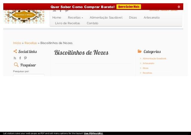 Biscoitinhos de NozesBiscoitinhos de NozesSocial linksSocial links PesquisarPesquisar Pesquisar por:  CategoriasCategori...