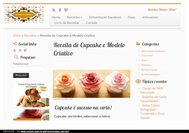 Cupcake modelo rosa Receita de CupcakeReceita de Cupcake e Modeloe Modelo CriativoCriativo Cupcake é sucesso na certa!Cupc...