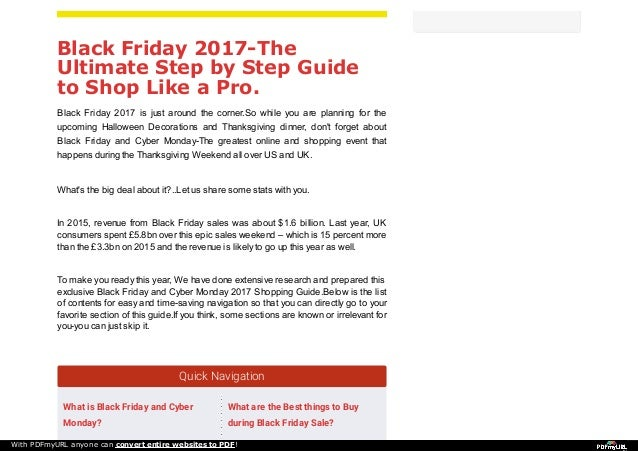 9bb1955dd1 Black Friday 2017-The Ultimate Step by Step Guide to Shop Like a Pro