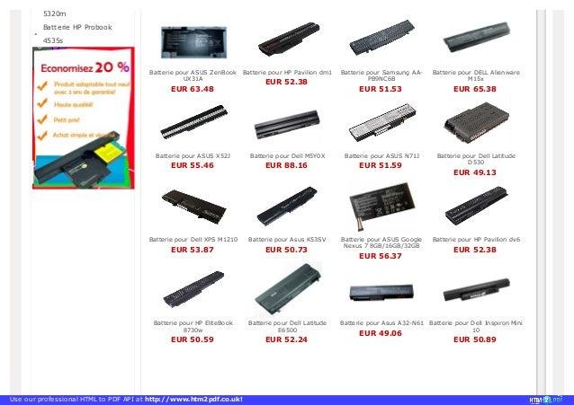 Batterie pour ordinateur portable http://www.fr-batterie-portable.com