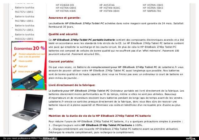 PA3534U-1BRS  HP 454668-001 HP HSTNN-OB45 HP HSTNN-XB45  Batterie toshiba PA3757U-1BRS Batterie toshiba PA3788U-1BRS Batte...