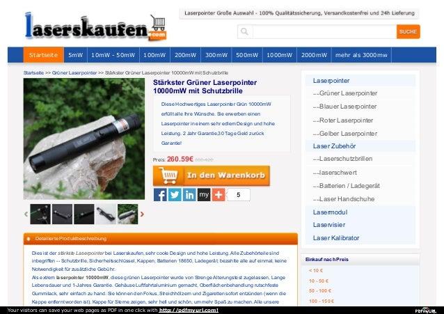 Startseite >> Grüner Laserpointer >> Stärkster Grüner Laserpointer 10000mW mit Schutzbrille 5 Diese Hochwertiges Laserpoin...