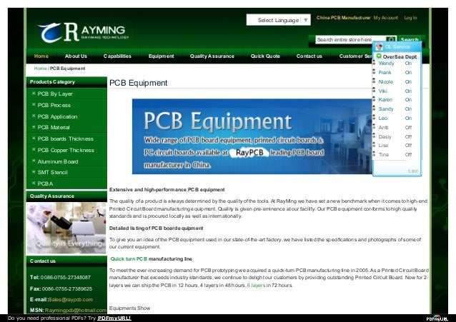 PCB Equipment Extensive and high-performance PCB equipment The quality of a product is always determined by the quality of...